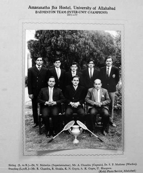 Badminton Team 1971-72