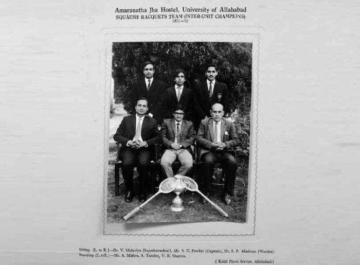 Squash Team 1971-72